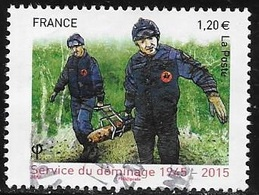 TIMBRE  N° 4927  -    70E ANNIVERSAIRE DU SERVICE DU DEMINAGE    -  OBLITERE  -  2015  - - France