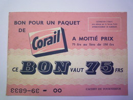 "CARTON  PUB  ""CORAIL""   XXX - Advertising"