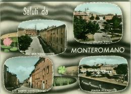 MONTEROMANO ( ROMA ) SALUTI - VEDUTINE - EDIZ. CORNACCHIA (2621) - Italia