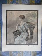 GRAVURE SUR PAPIER EPAIS MODE 1910 - Posters