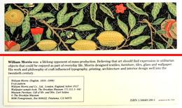 Ancien & Joli Marque-page éditions D'ART Pomegranate En Californie USA - WILLIAM MORRIS : Fruit Pattern - Bookmarks
