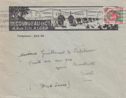 Blason D'Alger Sur Lettre à Entête Th. Courgeau Et Cie De 1948 - Algerien (1924-1962)