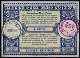 TRINITÉ - TRINIDAD London Type XVIn 24 CENTS Int. Reply Coupon Reponse IAS IRC Antwortschein O P.O.S. 5.3.60 Redeemed US - Trinidad & Tobago (1962-...)