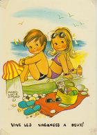 """Mabel Lucie Attwell    """" Vive Les Vacances à Deux ! """" - Attwell, M. L."""