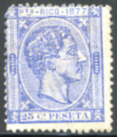 Ref. 248784 * HINGED *  - PUERTO RICO . 1877. ALFONSO XII. ALFONSO XII - Puerto Rico