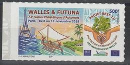 2018 Adhésifs Parus Au 72ème Salon D'Automne - Wallis Und Futuna