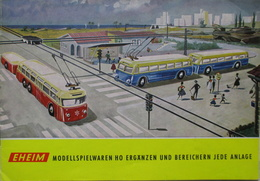 EHEIM Katalog Ca. 1960 Preise Trolley-Bus H0 - Scala HO