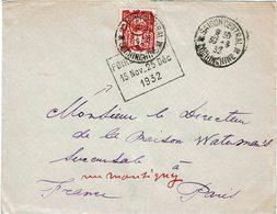 CTN54A- INDOCHINE LETTRE SAÏGON / PARIS 30/8/1932 DAGUIN PUBLICITAIRE - Indochine (1889-1945)
