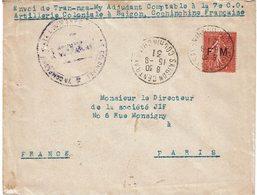 CTN54A- INDOCHINE LETTRE SAÏGON / PARIS 15/9/1931 AVEC TPM FM - Indochine (1889-1945)