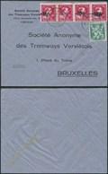 A034 Lettre De Verviers à Bruxelles 1946 Tramways - 1946 -10 %