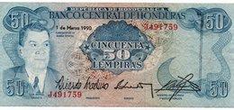 HONDURAS 50 LEMPIRAS 1990 P-66 XF++ - Honduras