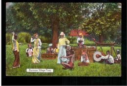 BURMA/ MYANMAR Burmese Village Poay Ca 1920 OLD POSTCARD 2 Scans - Myanmar (Burma)