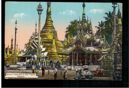BURMA/ MYANMAR Shrine Of Great Bell & Shan Pagoda Rangoon Ca 1920 OLD POSTCARD 2 Scans - Myanmar (Burma)