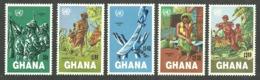 GHANA 1983 NAMIBIA DAY MILITARY SET MNH - Ghana (1957-...)