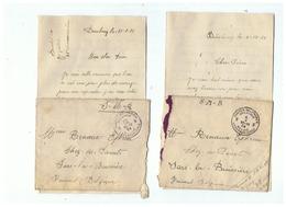 LETTRES CORRESPONDANCE MILITAIRE POUR SARS-LA - BUISSIERE ( BELGIQUE) - 1914-18