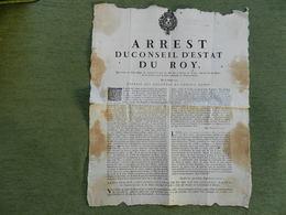 ARREST DU CONSEIL D'ETAT DU ROY - Historical Documents