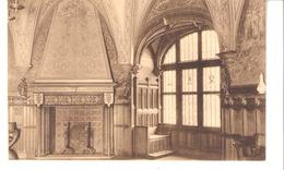 Gaasbeek-Gaesbeek(Lennik)+/-1910-Hoek Van De Zaal Gezegd Ridderszaal-Haard-Coin De La Salle Dite Des Chevaliers-Cheminée - Lennik