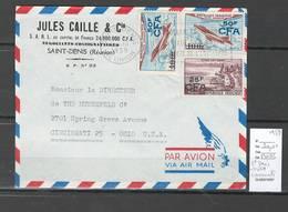 Reunion - Lettre Avion De Saint Denis Pour Cincinnati - Etats Unis -1959 - Reunion Island (1852-1975)