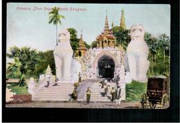 BURMA/ MYANMAR Entrance Shwe Dagon Pagoda Rangoon Ca 1920 OLD POSTCARD 2 Scans - Myanmar (Burma)