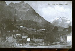 HOTEL ZUM BAREN GSTEIG      EN 1898 - Autres
