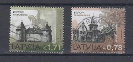 Latvia 2017 Mi 1011-2 Used  Europa,castles - Latvia