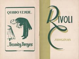 PORTUGAL PROGRAM - TEATRO CINEMA - RIVOLI - PORTO 1949 - Programs