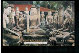 BURMA/ MYANMAR Shwe Dagone Pagoda A Scene Rangoon Ca 1920 OLD POSTCARD 2 Scans - Myanmar (Burma)