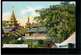 BURMA/ MYANMAR Government House Mandalay Ca 1920 OLD POSTCARD 2 Scans - Myanmar (Burma)