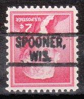 USA Precancel Vorausentwertung Preo, Locals Wisconsin, Spooner 802 - Vorausentwertungen