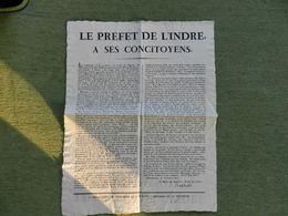 Le Préfet De L'Indre Relatant L'assassina Et Les Derniers Instants Du Duc De Berri - Historical Documents
