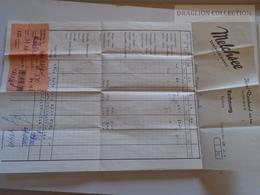ZA134.16 Switzerland MELCHSEE -Hotel Reinhard Am See - Rechnung Faktura Quittung -1957 - Switzerland