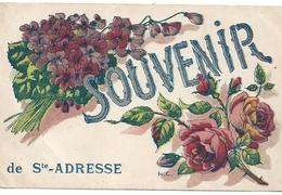 76  Sainte-Adresse (le Havre) Souvenir De Saint-Adresse (fleurs) - Sainte Adresse