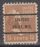 USA Precancel Vorausentwertung Preo, Bureau Wisconsin, Stevens Point 805-72 - Vorausentwertungen