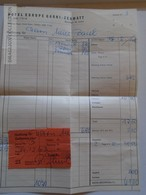 ZA134.18 Switzerland Hotel Europa Garni ZERMATT  1963  Invoice Rechnung - Switzerland