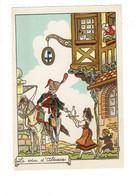 Cpm - Illustrateur JEANJEAN - Le Vin D'Alsace - M. Barré & J. Dayez 1210 H - Café Soldat Cheval Enseigne Serveuse - Illustrators & Photographers