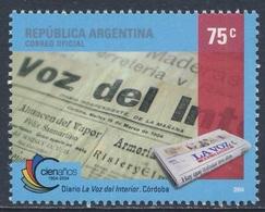 """Argentina 2004 Mi 2881 SG 3021 ** Cent. """"La Voz Del Interior"""" Newspaper / Zeitungsausgabe 2004 - Argentinië"""