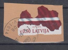 Latvia 2018 Mi 1042 Used Map,flag - Latvia