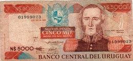 URUGUAY 5000 NUEVOS PESOS 1983 P-65a3 - Uruguay