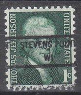 USA Precancel Vorausentwertung Preo, Locals Wisconsin, Stevens Point 846 - Vorausentwertungen
