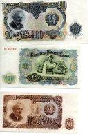 3 Billets De Bulgarie - Bulgarie