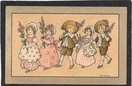 Florence HARDY - Enfants Aux Branches De Fleurs. MM VIENNE 451 - Hardy, Florence