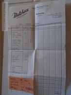 ZA134.21 Switzerland Melchsee - Hotel Reinhard Am See - 1958 Invoice Rechnung - Switzerland