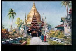 BURMA/ MYANMAR Shwegeena Pagoda Pagan Ca 1920 OLD POSTCARD 2 Scans - Myanmar (Burma)