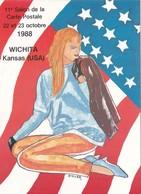 CPM Pirate Carte Pirate 11° Salon 1988 WICHITA - KENSAS - USA Tirage Limité Signée Par L' Illustrateur J.C. SISLER - Collector Fairs & Bourses