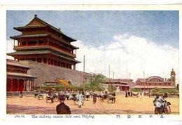 CHINE  PEIPING  THE RAILWAY STATION CHI MEN - Chine