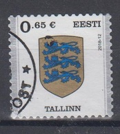 Estonia 2018 Mi 922 Used Coat Of Arms Tallinn - Estonia