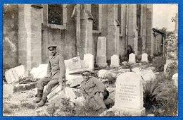 Pannes  - Carte Photo  - Soldats Allemands Dans Le Cimetière  1915 - France