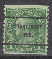 USA Precancel Vorausentwertung Preo, Bureau Wisconsin, Sturtevant 597-61 - Vorausentwertungen