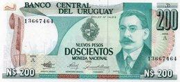 URUGUAY 200 PESOS 1986  P-66 UNC - Uruguay
