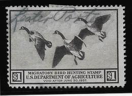 Etats Unis - Migratory Bird Hunting Stamp - 1937 - TB - Duck Stamps